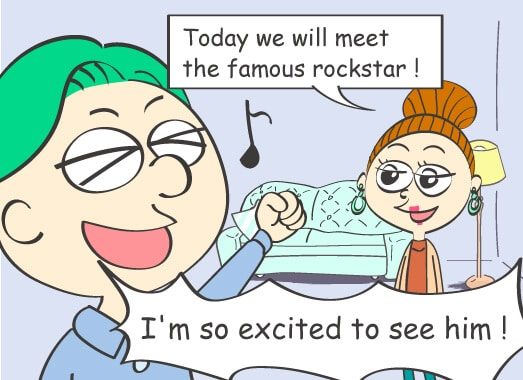 Today we will meet the famous rockstar! Today we will meet the famous rockstar!