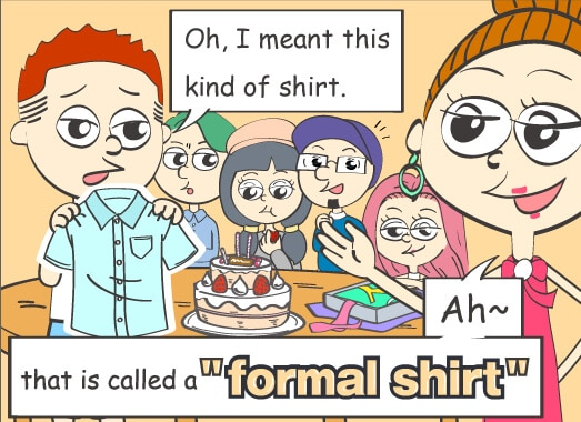 oh imeant thiis kind of shirt that is called a formal shirt